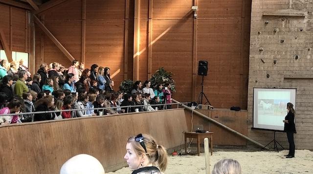 Babette Teschen vor Publikum